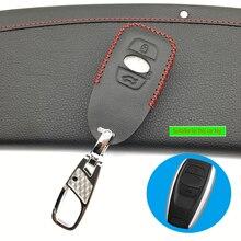 Верхний слой кожаный чехол для ключей, чехол для ключей для Subaru BRZ XV Forester Legacy Outback, чехол для ключей, 3 кнопки, защитный чехол