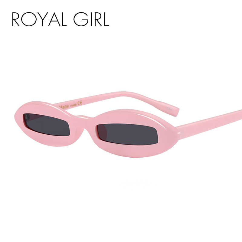 4f9bda61ba2 ROYAL GIRL New Unique Sunglasses Women Classic Brand Designer Oval Acetate  Frame Sun Glasses Female Black