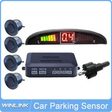 Waterproof Car LED Parking Sensor Kit Display 4 Sensors 12V for all cars Reverse Parking Assistance Backup Radar Monitor System