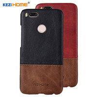 Case For Xiaomi Mi A1 MiA1 KEZiHOME Luxury Hit Color Genuine Leather Hard Back Cover Capa