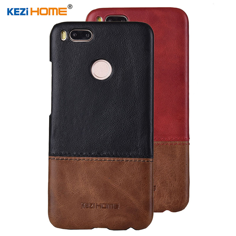 Case for Xiaomi Mi A1 MiA1 KEZiHOME Luxury Hit Color Genuine Leather Hard Back Cover capa For Xiaomi Mi A1 5.5 Phone cases