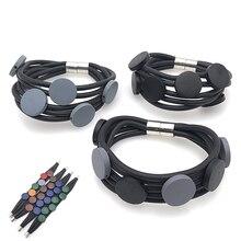 YD&YDBZ 2019 New Handmade Leather Bracelets For Women Charm Bracelet Rubber Wood 9 Color Birthday Gift Punk  Jewellery Wholesale