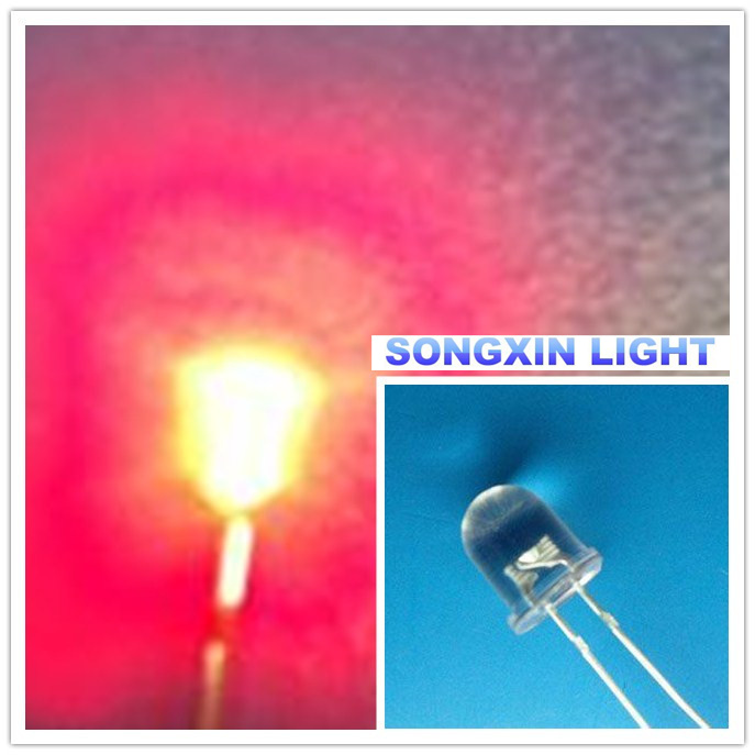 Straw Hat 8mm LEDs F8 0.5w 1//2w Red,Blue,White,Green,Pink Lamp Emitting Diode IL