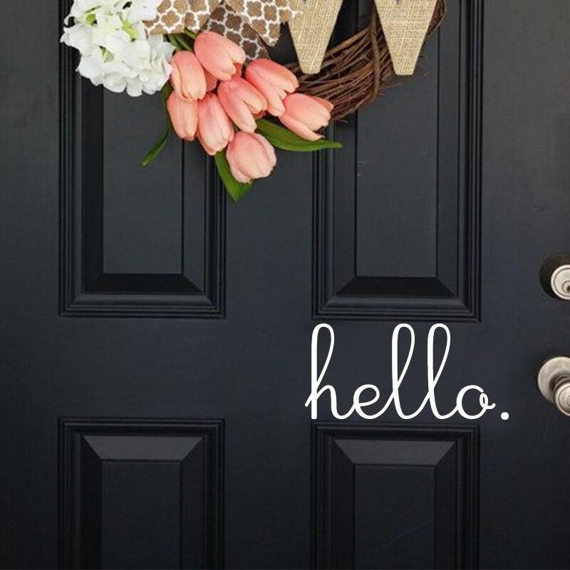 Art new design PVC home decor Anglická postava Dobrý den, samolepka na zeď odnímatelný dům dekorace slova obtisky pro dveře a okna