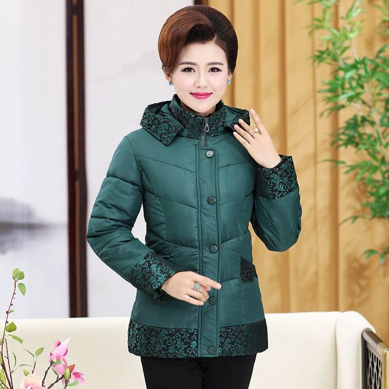 Mediana Navy Red Abrigo China Acolchado Casual De Con Chaquetas Madre Coat Zihong Azul Puff Globo Mujer 5rS5qa