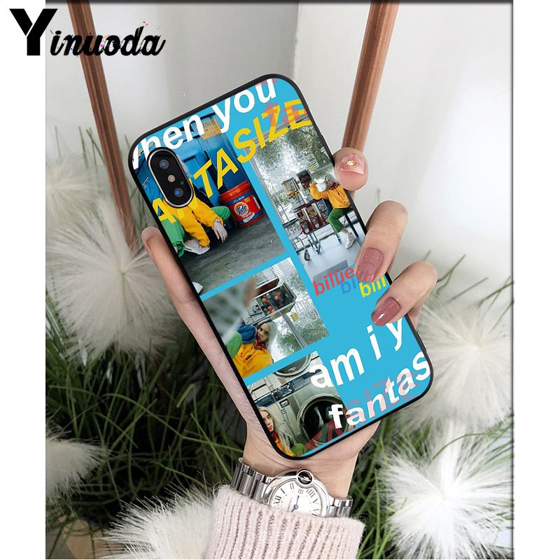 Yinuoda Billie Eilish Music Singer Star Novelty Phone Case Cover for Apple iPhone 8 7 6 6S Plus X XS MAX 5 5S SE XR Mobile Cases in Half wrapped Cases from Cellphones Telecommunications