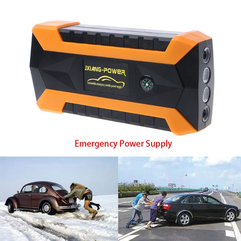 69900mAh 4 USB Portable Car Jump Starter Pack Booster Charger Battery Power Bank eu Plug ootdty 69900mah 89800mah 4 usb portable car jump starter pack booster charger battery power bank 600a