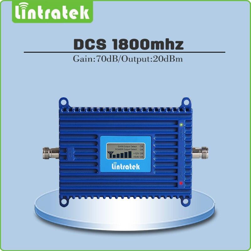 Gain 70dB Répéteur de Signal 4G LTE DCS 1800 mhz Mobile Amplificateur (bande 3) DCS LTE 1800 mhz Téléphone portable Signal Booster avec écran lcd