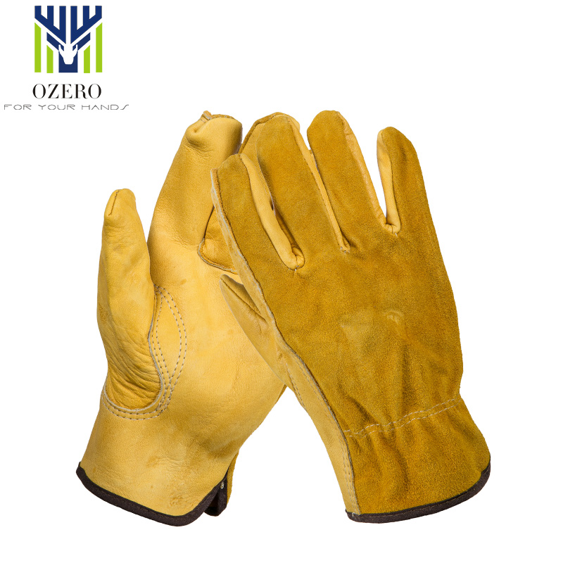 OZERO Sports Motorcycle Gloves The Cowhide MOTO Racing Ride Gloves Windproof Anti Cold Anti Hiking Hunting Gloves For Men  1008