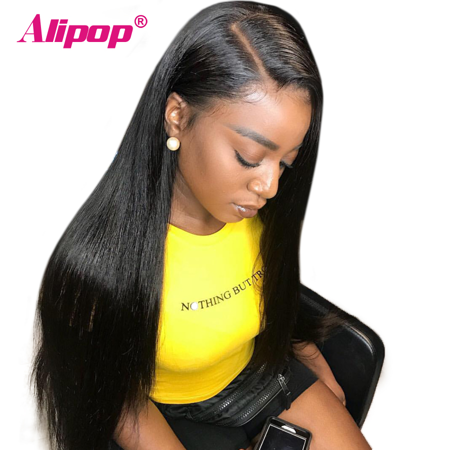 250 Densiy Brazilian Straight Lace Front Wigs 13x6 Pre Plucked Lace Front Human Hair Wigs With