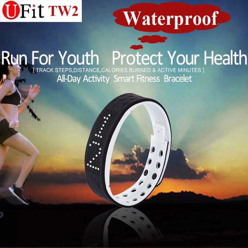 Ufit TW2 waterproof smart wristband sport monitor time dispaly Fitness intelligent Tracker bracelet smartband sleep monitor