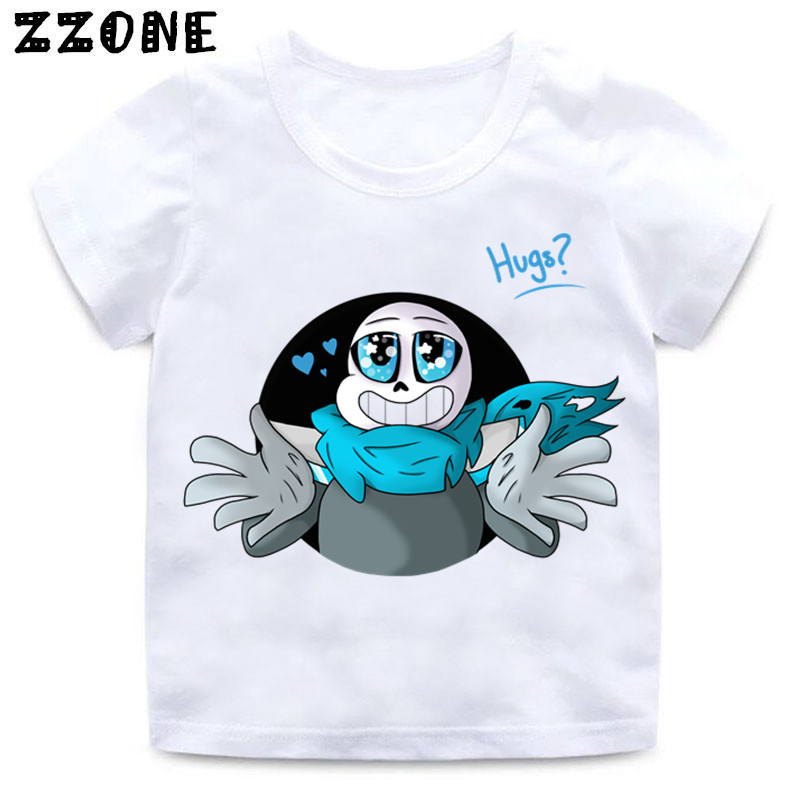 Girls and Boys Skull Brother Undertale Print Funny T shirt Kids - Children's Clothing - Photo 3