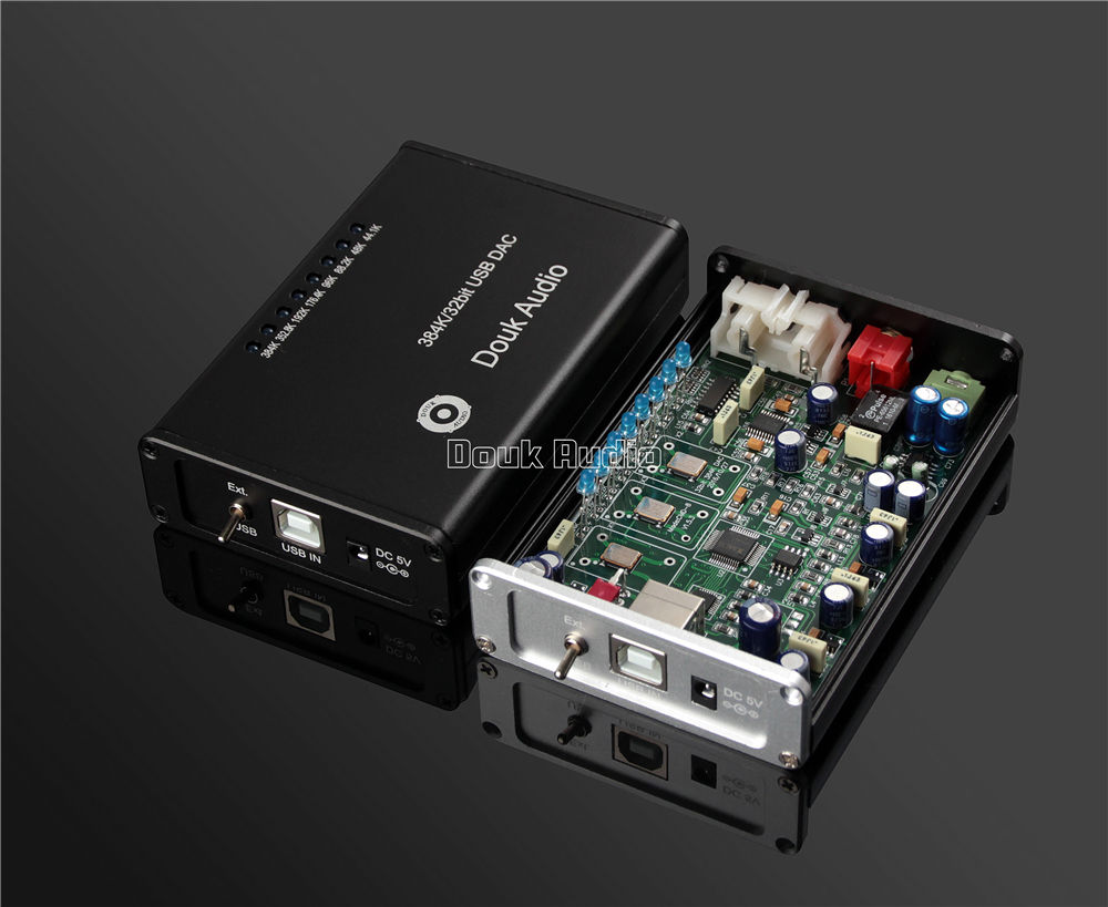 2017 Lastest Douk Audio HiFi Mini PCM5102 USB XMOS DAC 384K/32bit Decode Headphone Amplifier Sound Card Free Shipping dolby surround sound audio processor usb decoding dac pre amp usb sound card