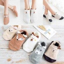 Fashion Cute Cartoon Animal Women Ankle Socks Girls Funny 3D Ear Cotton Short Female Spring Summer Anti Slip Sock