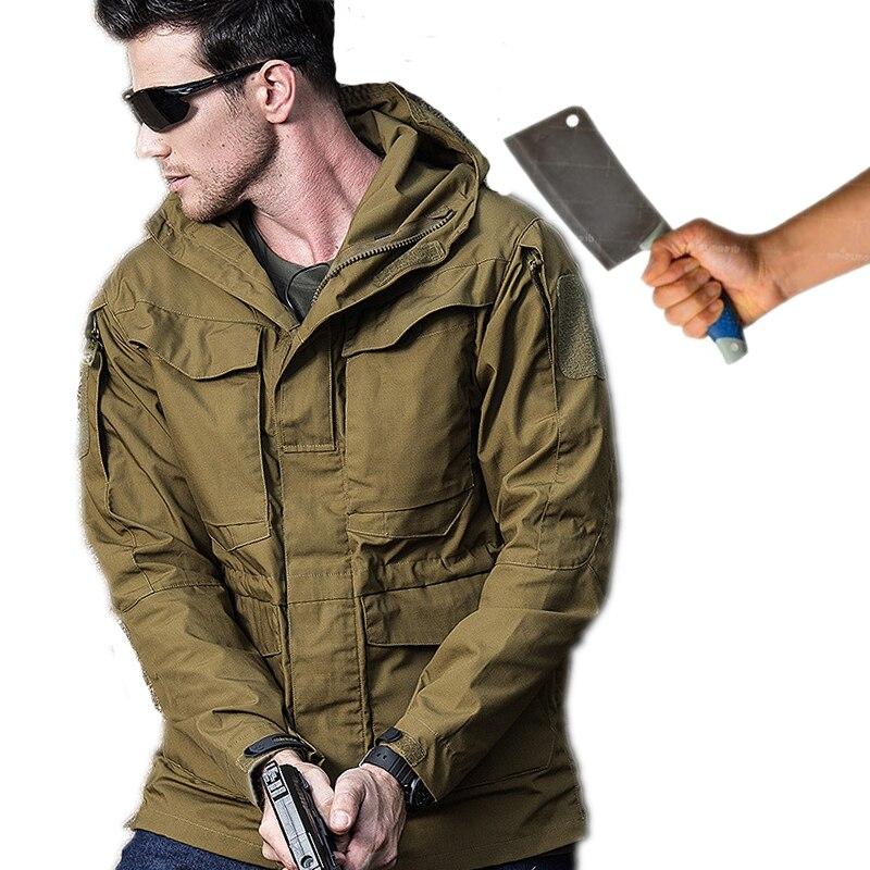 Самообороны безопасности анти-вырезать анти-удар Для мужчин Куртки телохранитель стелс обороны верхняя одежда полиции личные тактика непр...