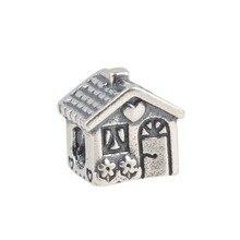 Zmzy original jardín de la casa de ley 925 de plata del corazón de la vendimia encanta granos diy adapta pulseras pandora