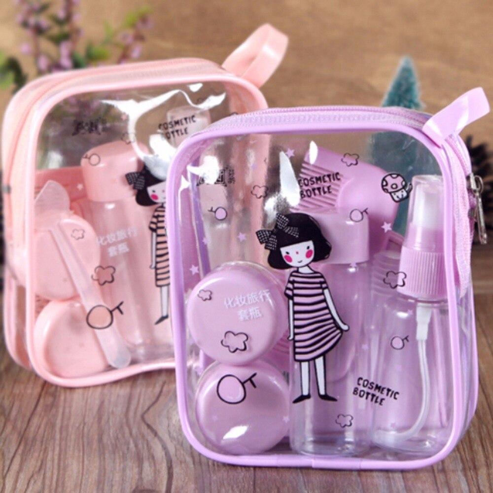8 Pcs/Set Mini Empty Cosmetics Container Bottle Plastic Travel Transparent Bottle Eyeshadow Makeup Face Cream Jar Pot Bottle