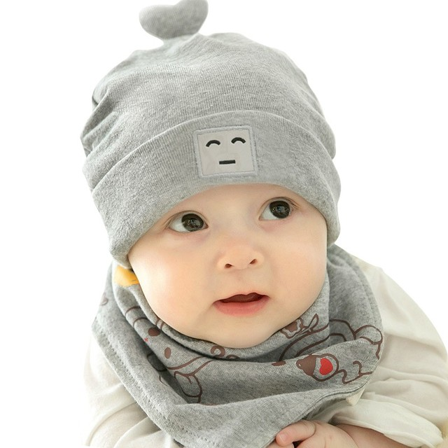 Baby Hat Baby Cartoon Robotic Cotton Head Cap + Triangular Suit Hats For  Baby Girl Boy Newborn Baby Photo Props e61351c4d0a