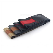 Leather Sport Car Steering Wheel Cover, Wrap Cover With Needles and Thread For Diameter 38 cm