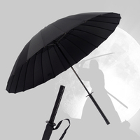 New Arrival Creative Japanese Ninja Like Samurai Long Sword Handle Rainy Sunny Umbrella Men Women Windproof