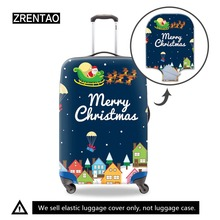 ZRENTAO travel accessories Chris print luggage protective cover stretchable trolley suitcase cover apply to 18-32 inch case suitcase case travel trolley suitcase protective cover for s m l xl 18 32 inch travel accessories luggage cover