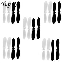 10 Pairs Replacement Propellers Props For Hubsan X4 H107 RC Quadcopter Shaft Pair Mini Drones Rolling Spider Parrot