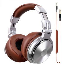 Купить с кэшбэком OneAudio Original Headphones Professional Studio Dynamic Stereo DJ Headphones With Microphone Wired Headset Monitoring For Phone