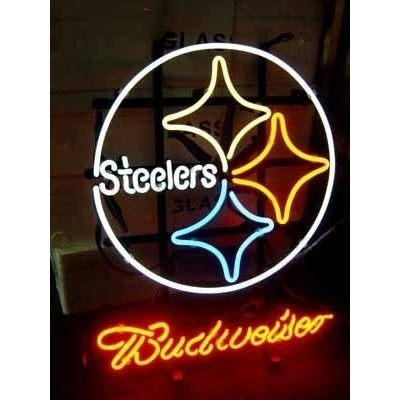 buy online eb702 ff51f Business NEON SIGN board For LED PITTSBURGH STEELERS ...