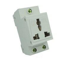 New Din rail Modular Socket for Switchgear 3 Pins Extention Distribution Box Power Socket 10-16A 250V стоимость