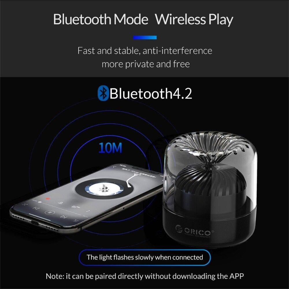 Orico Mini Drahtlose Bluetooth 4,2 Lautsprecher Sound System 3D Stereo Musik Surround Tragbare Lautsprecher für Computer Gaming Musik