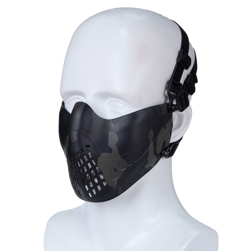 Airsoft Paintball Half Face Mask Tactical Protective CS Half Face Mask Military Game Paintball Metal Steel Net Mesh Mask