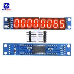 MAX7219 СВЕТОДИОДНЫЙ матричный 8 цифровой, цифровой трубки Дисплей Управление модуль для Arduino 3,3 V 5 V микро Управление Лер Последовательный