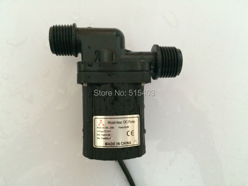 24V Small DC Water Pump DC40F-2460A Power//Flow Adjustable 1.2A 28W Low Noise