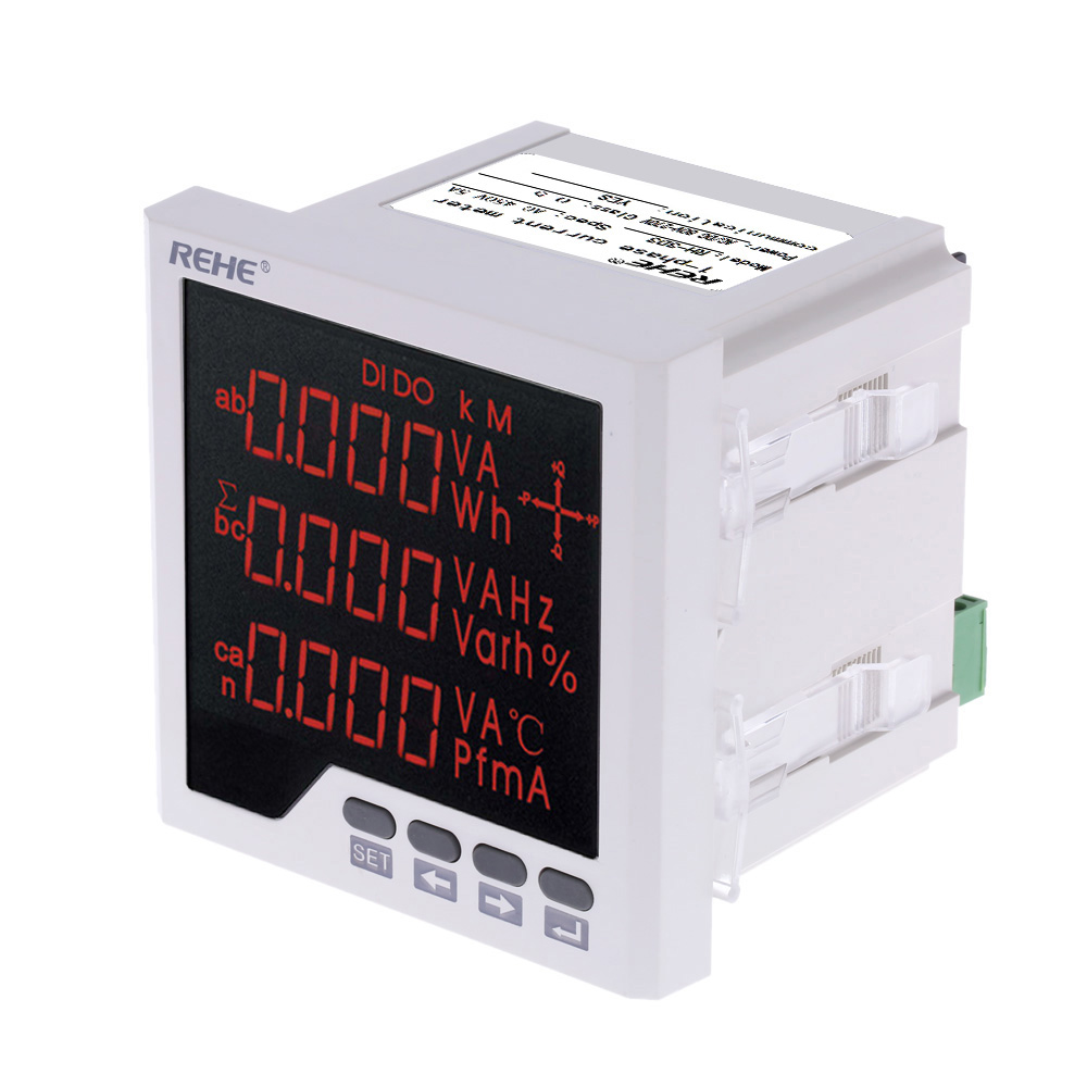 все цены на Embedded Multi-purpose Power Meter LED Digital 3 Phase voltmeter ammeter AC Voltage Current Power Factor Frequency Measurement онлайн
