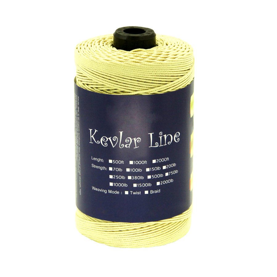 100lb-2000lb Braided Kevlar Line for Fishing Outdoor Activities Camping Hiking Backpacking Hunting Firefighting Cord Kite Flying