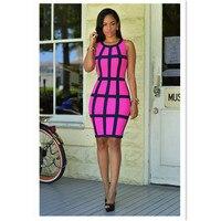 2 colors 2016 new fashion sexy women sleeveless striped pencil dress bodycon sheath elegant womens night club dresses TX194