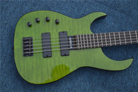 Custom Shop Emerald Green Quilted Body Modulus Bass Quantum 5 String Left Handed Electric Bass Guitar China