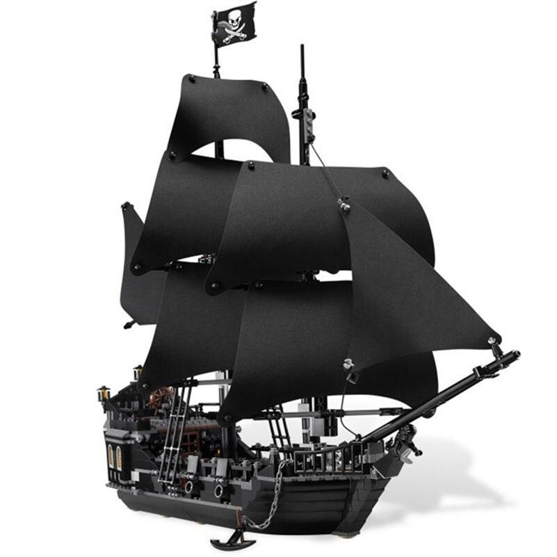 LEPIN 16006 Pirates Of The Caribbean The Black Pearl Building Blocks Kit Minifigures Bricks Toys Compatible