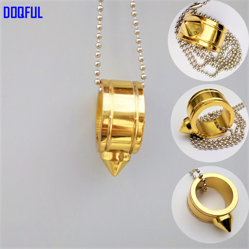 100pcs/lot Tactical EDC Self Defense Finger Ring Chain Coldplay Glass Breaker Safety Ornament Necklace Survival Tools Wholesale