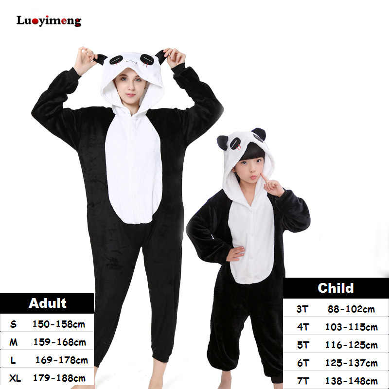 Kigurumi Animal Cartoon Stitch Panda Pajamas Unicorn Onesie Pajamas For Women Kids Pyjamas Boys Girls Cosplay Costumes Sleepwear