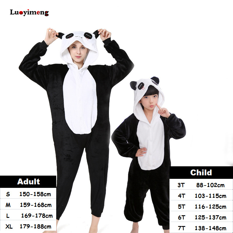 Animal Cartoon Kigurumi Stitch Panda Pajamas Unicorn Onesie Pajamas For Women Kids Pyjamas Boys Girls Cosplay Costumes Sleepwear