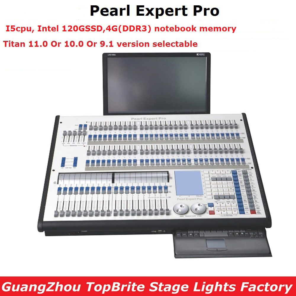 Expert perle Pro Éclairage de Scène Contrôleur Système Titan 11.0 Ou 10 Titan Console Double Moteur 4096 DMX Canal Flightcase Pack