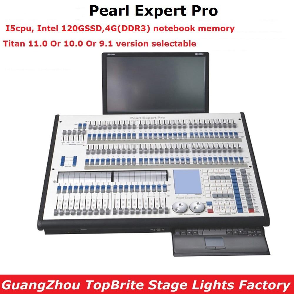 Perla Esperto Pro Controller di Illuminazione del Palco Titan 11.0 O 10 Sistema di Titano Console Doppio Motore 4096 Canali DMX Flightcase Pacchetto