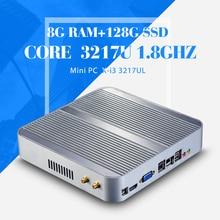 I3 3217U 1.8 ГГц DDR3 8 г оперативной памяти 128 г ssd, Настольный компьютер, Игра pc. Безвентиляторный материнская плата, Мини-пк, Планшет, Микро-hdmi, Vga