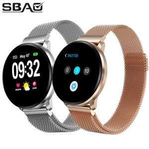 Image 1 - Full Touch Screen Smart Watch Band Fitness Bracelet Heartrate Blood Pressure Tracker Men Women Wristwatch For Android iOS Xiaomi