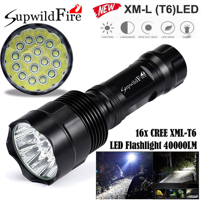 SupwildFire 40000Lm 16x CREE XML T6 LED 5Mode LED Flashlight Torch Light Lamp 170622 sitemap 36 xml