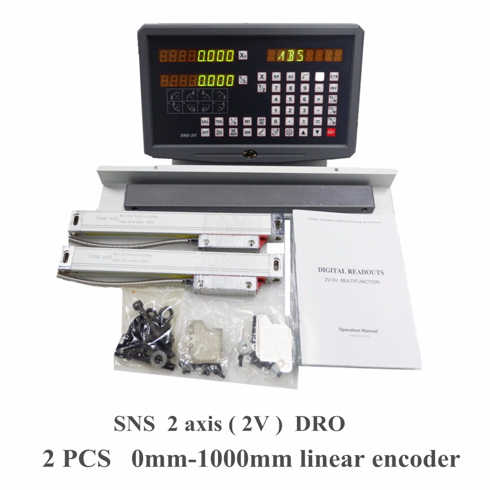 2 Axis Digital CNC Lathe milling machine Spark machine Readout DRO Precision 0.001mm 0.005mm Linear Scale / Linear Ruler Sets free shipping high precision easson gs11 linear wire encoder 850mm 1micron optical linear scale for milling machine cnc