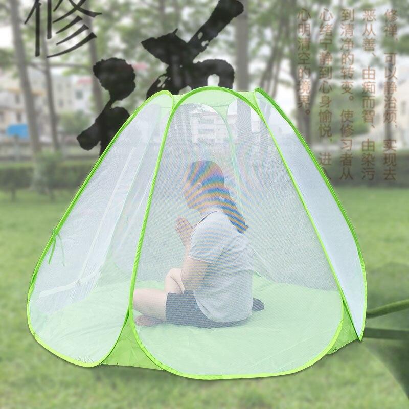 2016 été nouvelle haute qualité jouer méditation yoga pratique méditation tente automatique pop up moustique maille tente ont 3 taille