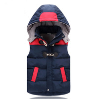 Children Hooded Vests Warm Down Jacket Baby Girls Outerwear Coats Kids Thick Vest Boys Jackets Autumn