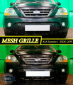 Mesh grille for KIA Sorento I  2006-2011 car styling molding decoration protection chrome pad cover stainless